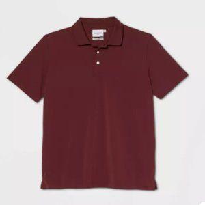 Men's Standard Fit Short Sleeve Collared T-Shirt M